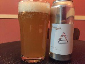 Finback Brewery Echelon Yuzu Double IPA poured into a nonic pint glass.